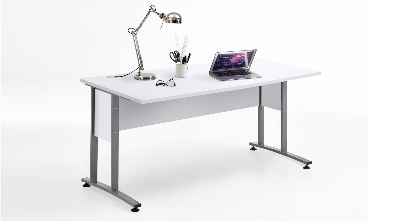 Schreibtisch 'CALVIA 2', weiß mit Metallkufen 160x80 cm Bild 1