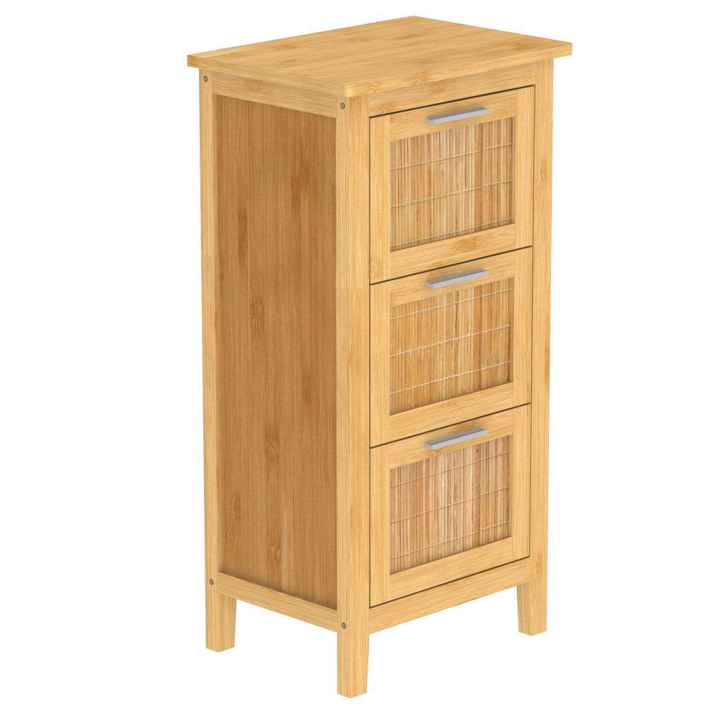 EISL Badezimmerschrank mit 3 Schubladen Bambus 30x42x82 cm Bild 1