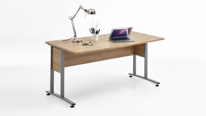 Schreibtisch 'CALVIA 2', Alteiche 160x80 cm Bild 1