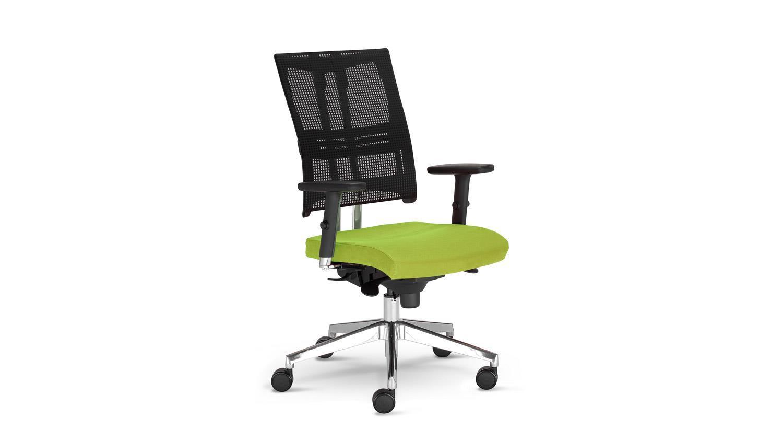 Drehstuhl NET MOTION Bürostuhl Drehsessel in grün mit Funktionen Bild 1