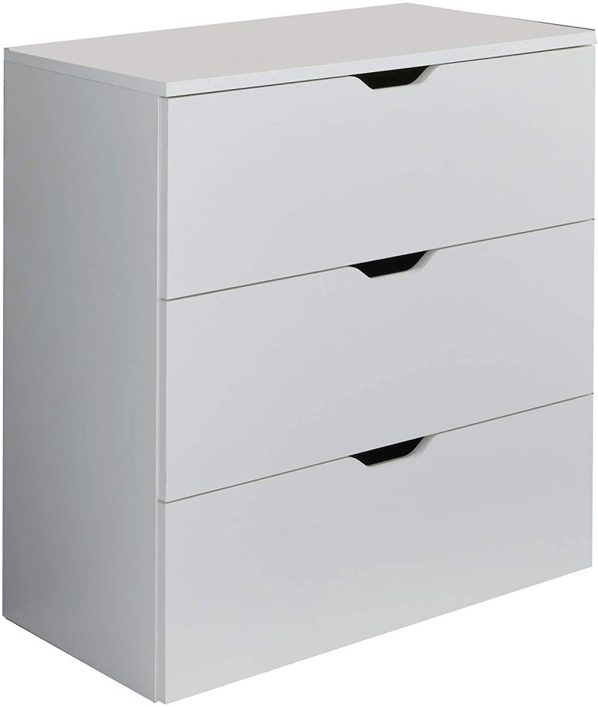 Trendteam 'Basix' Kommode, weiß, 78 x 80 cm Bild 1