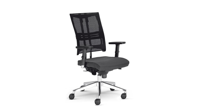 Drehstuhl NET MOTION Bürostuhl Drehsessel in grau mit Funktionen Bild 1