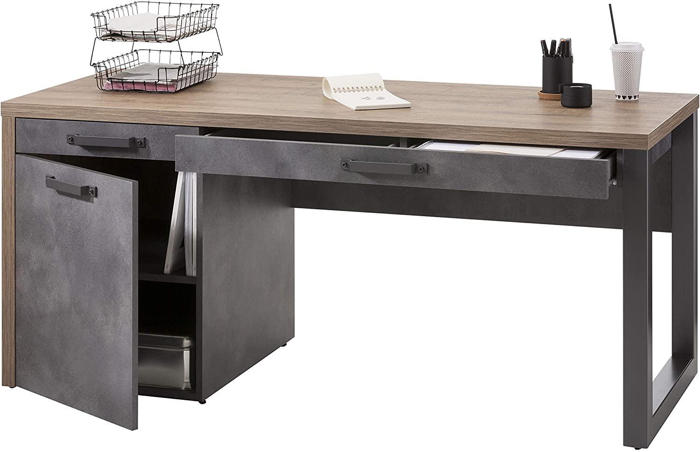 'LAFABRICA' Schreibtisch, Alteiche Nb./grau Bild 1