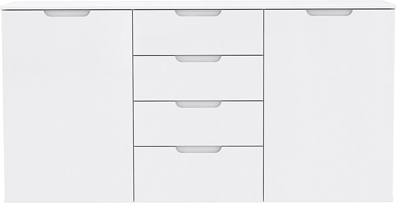 Forte 'Sienna' Sideboard, Kommode, weiß Hochglanz, 165 x 85 cm Bild 1