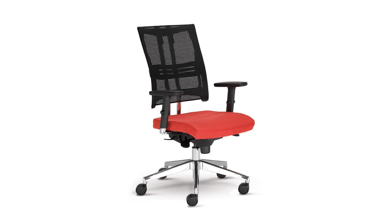 Drehstuhl NET MOTION Bürostuhl Drehsessel in rot mit Funktionen Bild 1