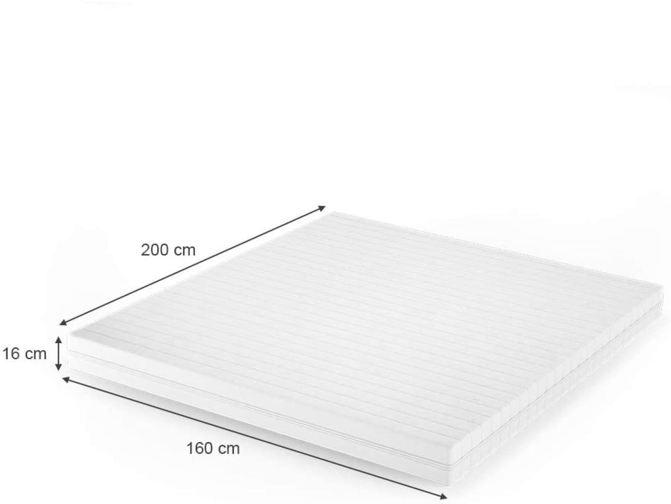 VitaliSpa 'Calma Comfort Plus' Schaummatratze mit Kaltschaumkern, H3 140x200 cm Bild 1