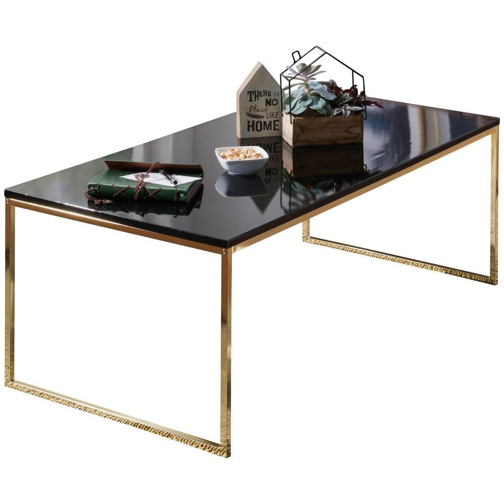 Couchtisch 'RAVI' 120 x 45 x 60 cm, Metall Holz schwarz/gold Bild 1