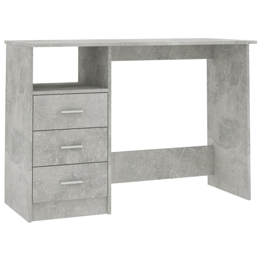 vidaXL Schreibtisch mit Schubladen Betongrau 110×50×76 cm Bild 1