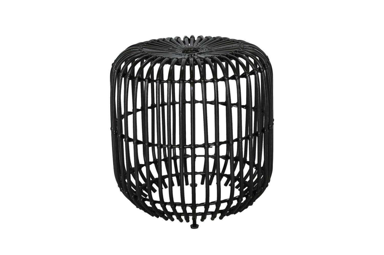 Rattan Beistelltisch schwarz Couchtisch Kaffeetisch Sofatisch Ablagetisch Tisch Bild 1