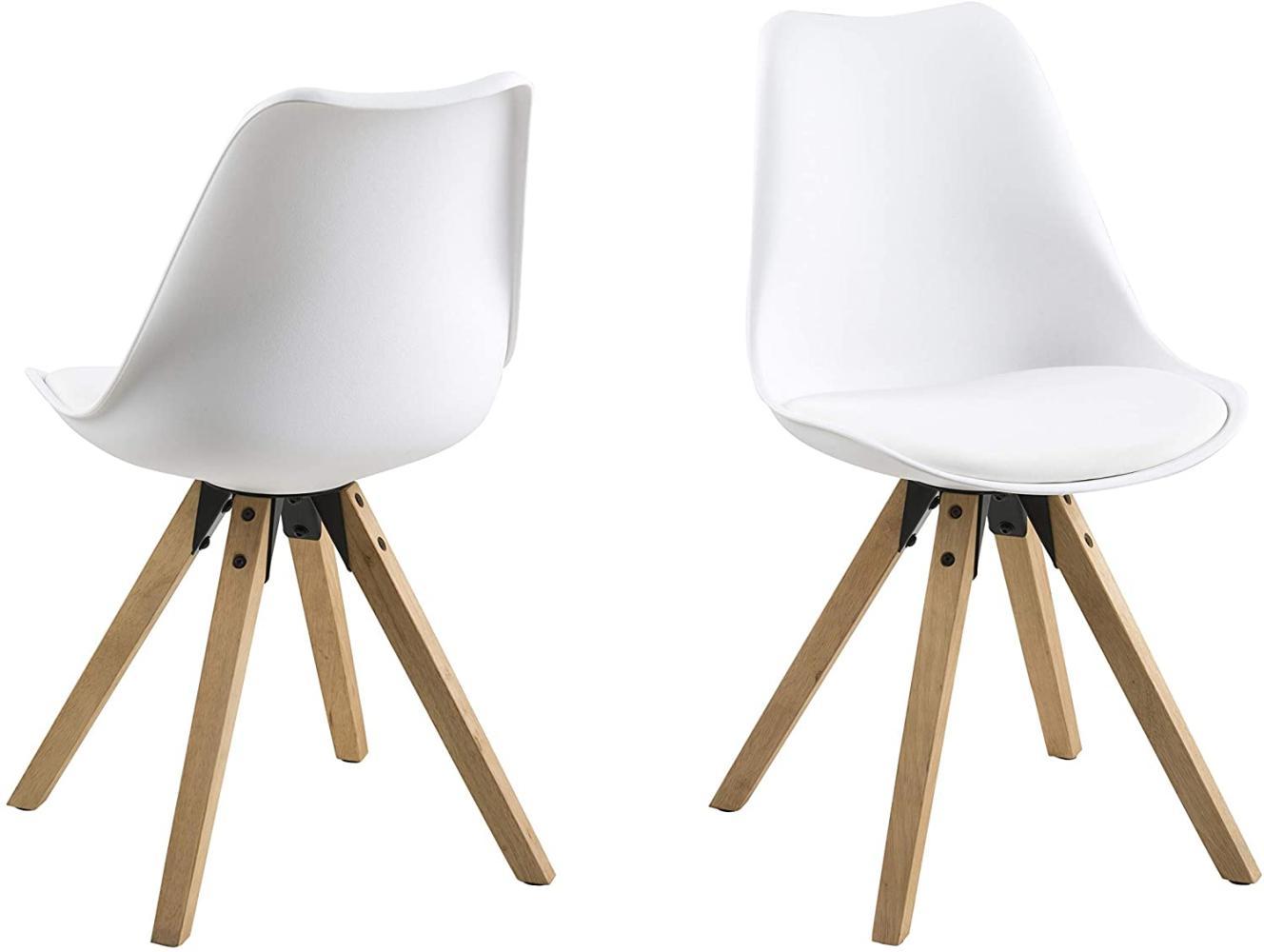 2er-Set 'DIMA' Stuhl, weiß/natur Bild 1