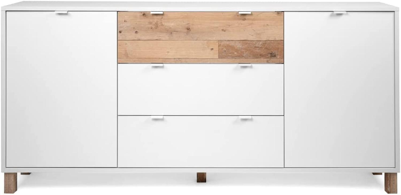 Sideboard Menorca weiß und Used Wood Shabby hell 180 x 86 cm Bild 1
