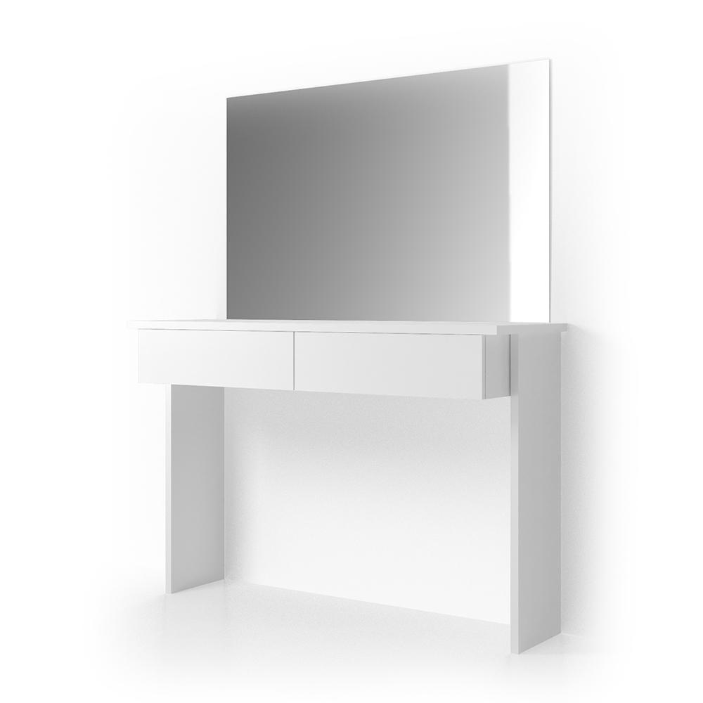 Vicco 'Azur' Schminktisch, Weiß Hochglanz, inkl. Spiegel Bild 1