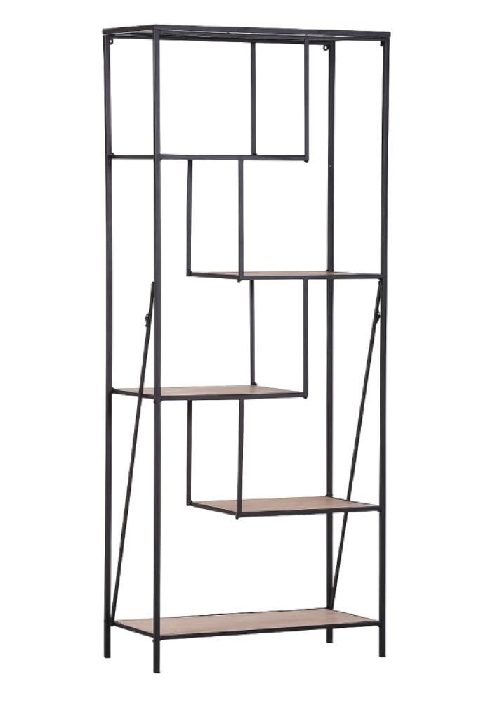 Regal ALCOTT, Holz/Metall, klappbar Bild 1