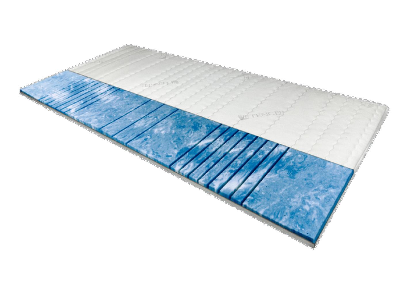 AM Qualitätsmatratzen | 7-Zonen Deluxe Gelschaum-Topper 90x200 cm - 8 cm Höhe Bild 1