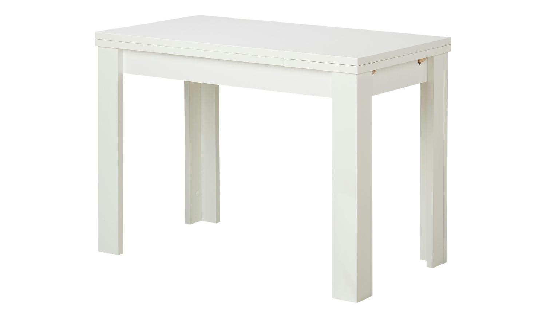 110 x 60 cm weiss Deal ZIP Esszimmertisch Küchentisch Speisezimmer ausziehbar auf 166 cm Bild 1