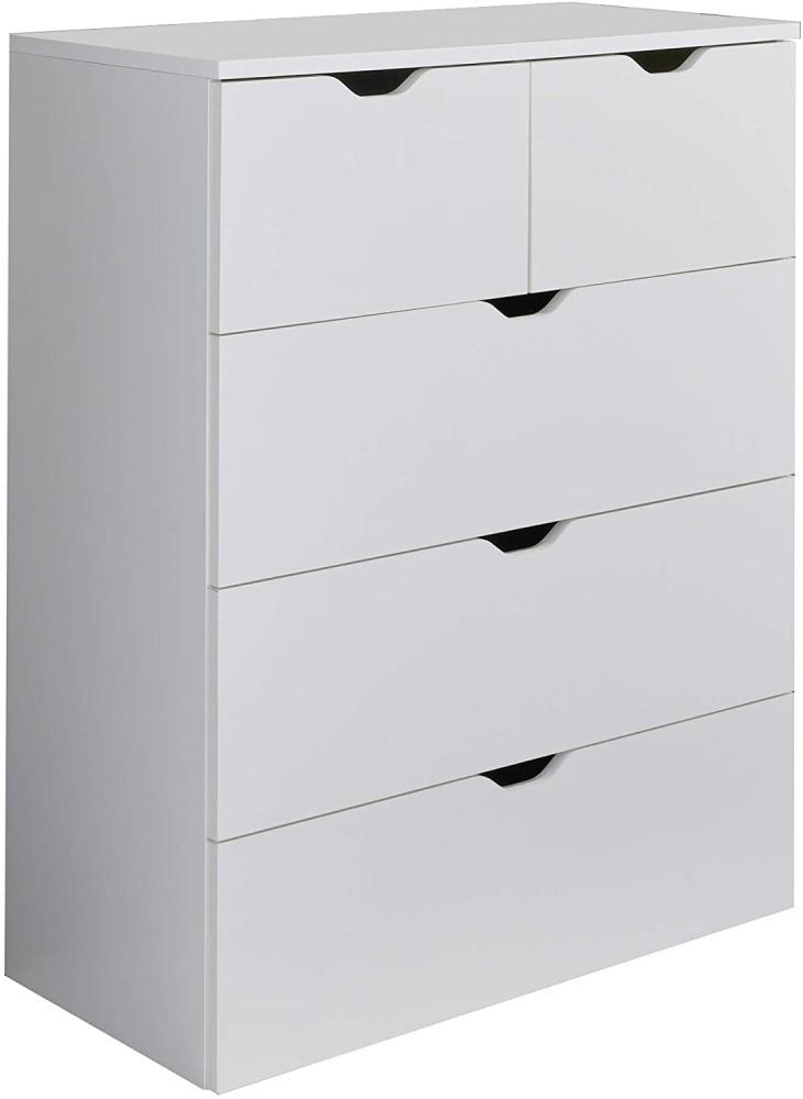 Trendteam 'Basix' Kommode, weiß, 80 x 101 cm Bild 1