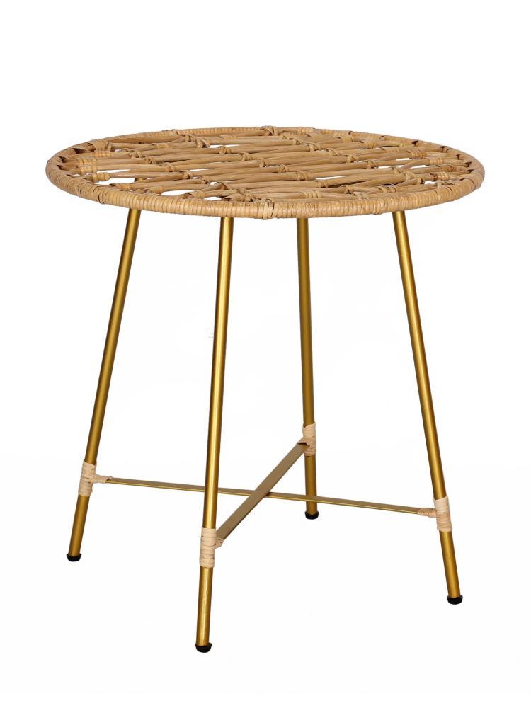 Rattan Beistelltisch natur Couchtisch Kaffeetisch Sofatisch Ablagetisch Tisch Bild 1