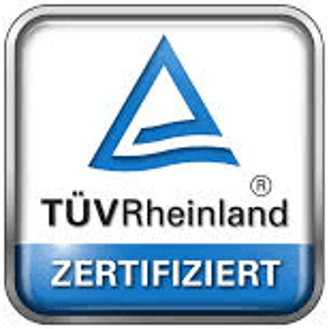 TÜV-Rheinland zertifiziert
