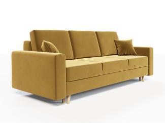 Sofa 3-Sitzer CARDE mit Schlaffunktion Gelb