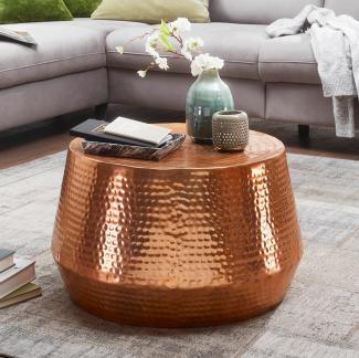 Couchtisch MARESH 60 x 36 x 60 cm Aluminium Beistelltisch Orientalisch rund