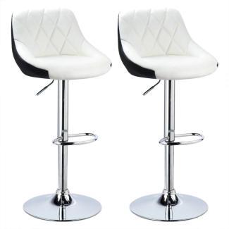 2er-Set Barstuhl zweifarbig Modell Marc weiß/schwarz