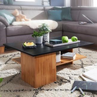 Design Couchtisch 90x35x60 cm, Anthrazit/Sandeiche
