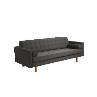 3-Sitzer Sofa 'Topic Wood', dunkelgrau