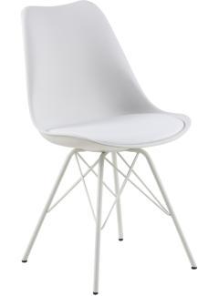 Stuhl ERIS, Kunststoff in weiß, Chromgestell
