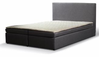 Boxspringbett 'Paxos 5' Hotelbett 180x200 Bonellfederkern Bett mit Topper grau