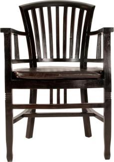 Sit Möbel Samba Armlehnstuhl L = 55 x B = 55 x H = 95 cm antikfinish schwarz