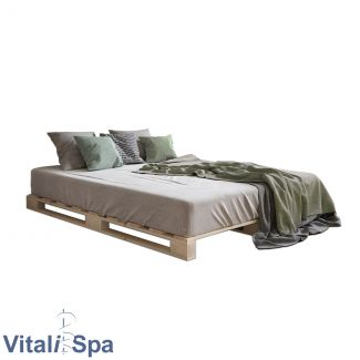 VitaliSpa Palettenbettgestell, Kiefer natur, 120x200cm