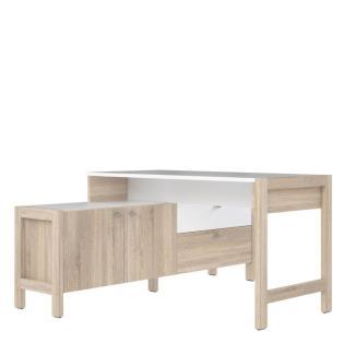 'HOYVIK' Schreibtisch-Kombination, weiß/Sonoma Eiche Nb.