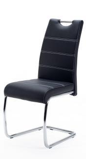 'Flora' Schwingstuhl, schwarz, Kunstleder