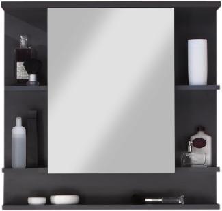 Badezimmer Spiegelschrank Tetis mit Regalfächern und ohne Beleuchtung Graphit grau 72 x 72 cm Badmöbel
