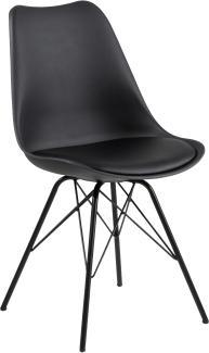 Stuhl 'ERIS' in schwarz/schwarz