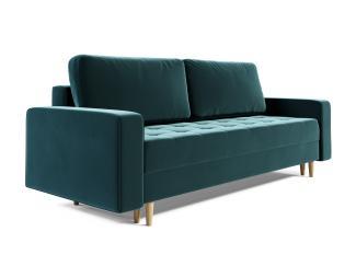 Sofa 3-Sitzer BELANO mit Schlaffunktion Flaschengrün