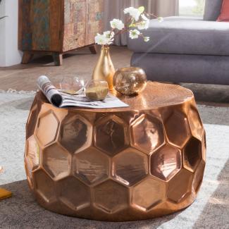 Couchtisch 'BEEHIVE' 60 x 36 x 60 cm Aluminium orientalisch kupfer