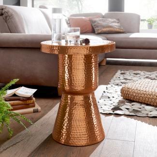 Design Beistelltisch DELIA 43 x 59 x 43 cm Aluminium Dekotisch Orientalisch rund