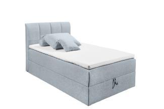 'GRANADA 2' Bett, pastellblau, 120 x 200 cm