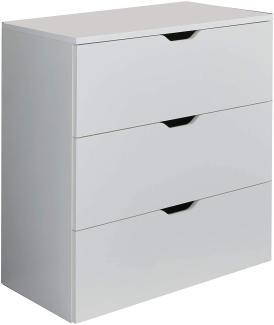 Trendteam 'Basix' Kommode, weiß, 78 x 80 cm