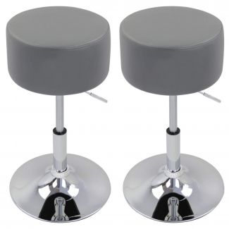 Höhenverstellbarer Barhocker (2er-Set) BH14 Serie grau