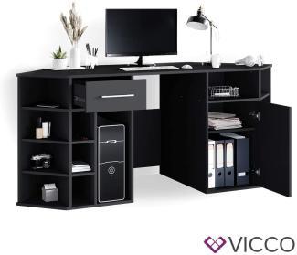 Vicco 'Houston' Schreibtisch, schwarz mit Schublade