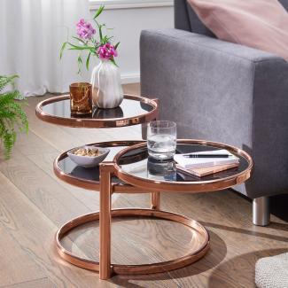 Couchtisch SINA mit 3 Tischplatten 58 x 43 x 58 cm