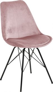 Stuhl ERIS, rose/schwarz