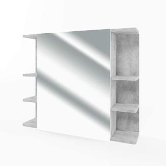VICCO Badspiegel FYNN 80 x 64 cm Grau Beton