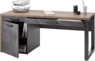 'LAFABRICA' Schreibtisch, Alteiche Nb./grau