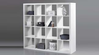 Bega 'Style' Raumteiler Regal in weiß, 4x4 Fächer, ca. 147 cm hoch