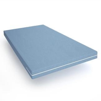 Schaumstoffmatratze 90x200 H2 - Komfortschaummatratze - Abnehmbarer Bezug - Lieferung als Rollmatratze 90x204
