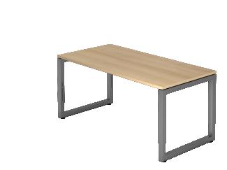 'RS16' Schreibtisch O-Fuß eckig 160x80cm Eiche / Graphit