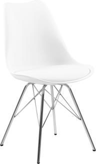 Stuhl ERIS, weiß, Chromgestell